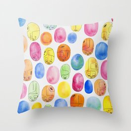 Organik Hydropoly Spores Throw Pillow