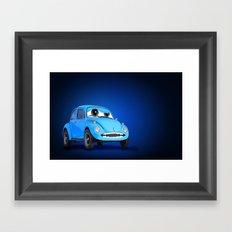 Blue Car Framed Art Print