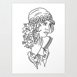 Neotrad Lady 1 Art Print