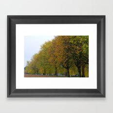 Autumn in Hyde Park Framed Art Print