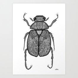 Scarab Beetle Art Print