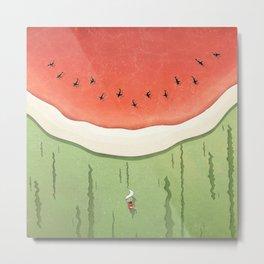 Fleshy Fruit (Watermelon) Metal Print