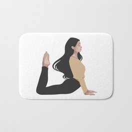 Yoga girl yellow II Bath Mat