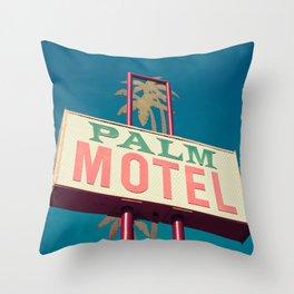 Palm Motel Throw Pillow
