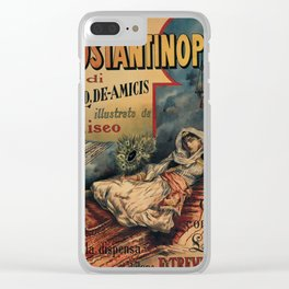 Constantinople Italian vintage book advertisement Clear iPhone Case