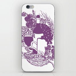 Hoops and grapes  iPhone Skin