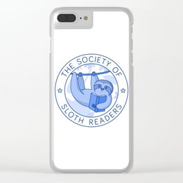 Society of Sloth Readers Clear iPhone Case