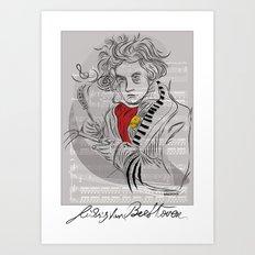 Beethoven in musica Art Print
