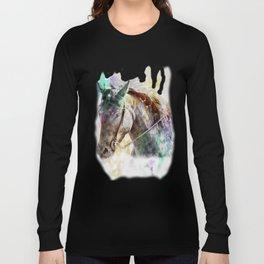 Watercolor Horse Portrait Long Sleeve T-shirt