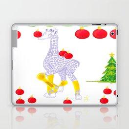 Winter is Coming Midas is Ready - Christmas Lavender Giraffe - Tree Decorating Laptop & iPad Skin