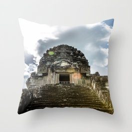 Angkor Wat, Steps to the Lotus Bud, Cambodia Throw Pillow