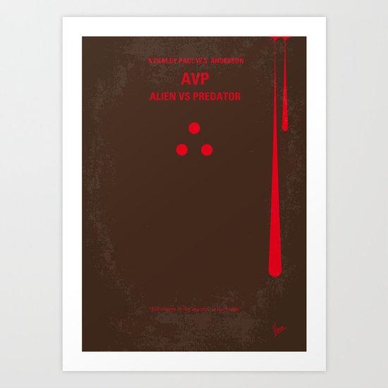 No148 My AVP minimal movie poster Art Print