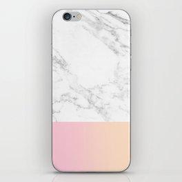 Marble Bottom iPhone Skin