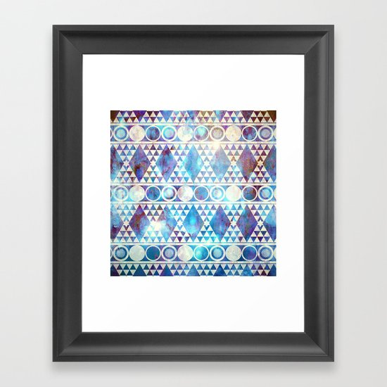 Tribal Storm Framed Art Print