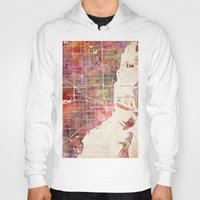 miami Hoodies featuring Miami by MapMapMaps.Watercolors