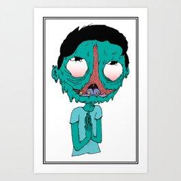 Happy lil dood Art Print