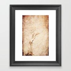 Drawn Tree iPhone Case Framed Art Print