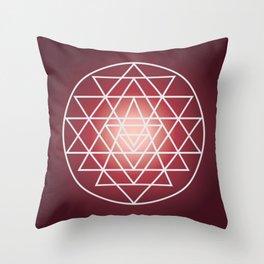 Sacred Geometry Triangle Throw Pillow
