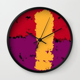 The resistence of Art. Color is freedom. Wall Clock