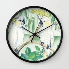 Saffron Cockatoo Wall Clock