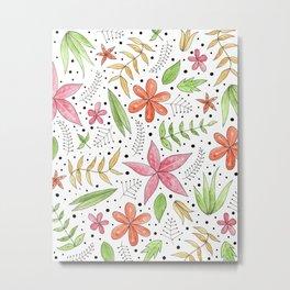 whimsical floral print Metal Print