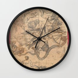Constellation Chart 1856 Wall Clock