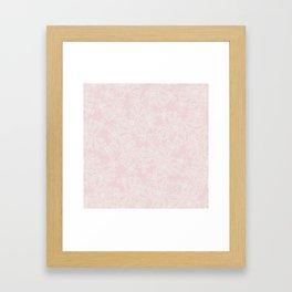 Blush Flowers Framed Art Print