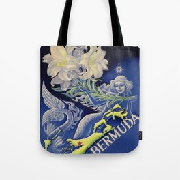 Vintage Mermaid Bermuda Tote Bag