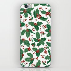 Holly pattern iPhone Skin