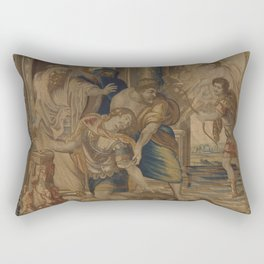 The Death of Achilles Rectangular Pillow
