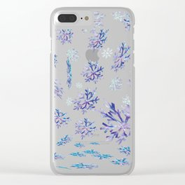Snowflakes falling Clear iPhone Case