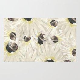 Citrine White Floral Rug