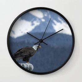 Bald Eagle of Resurrection Bay, No. 1 Wall Clock