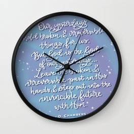 Oswald Chambers quote Wall Clock