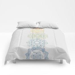 Chakra mandalas Comforters
