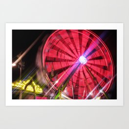 Spinning Your Wheels the ferris wheel carnival ride Art Print