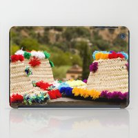 hats iPad Cases featuring Straw hats by Simon Ede Photography