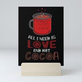 Valentines Day Love and Hot Cocoa  Mini Art Print