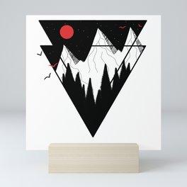 saphire room and mountains Mini Art Print