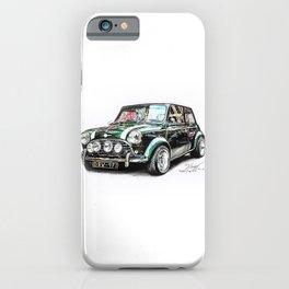 Mini Cooper Drawing (Classic) iPhone Case