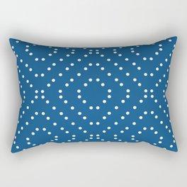Geometric dots on classic blue Rectangular Pillow