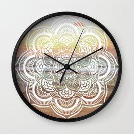 Beach Sunset Mandala Wall Clock