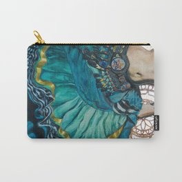 Turquoise Twirling Carry-All Pouch