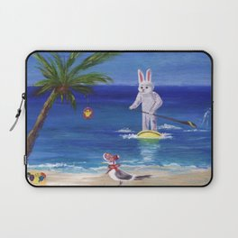 Easter Bunny at the Beach Laptop Sleeve