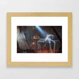 """""""Here is the gift for the captain! Aaarrghh!"""" Framed Art Print"""