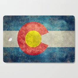 Colorado State flag, Vintage retro style Cutting Board