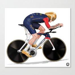 Bradley Wiggins | Hour record Canvas Print