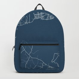 Galway Blueprint Street Map, Galway Colour Map Prints Backpack