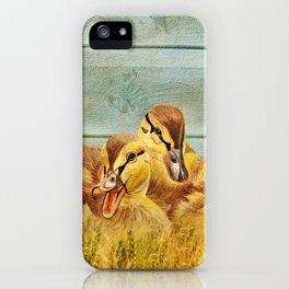 Wild Ducklings iPhone Case