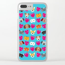 Cat Loves Dog Loves Cat Clear iPhone Case